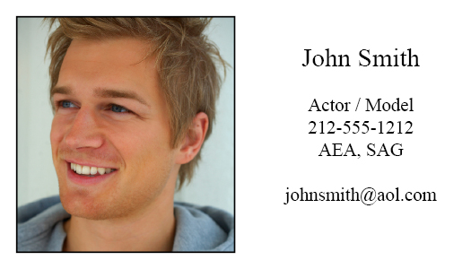 Actor business cards actor business card colourmoves